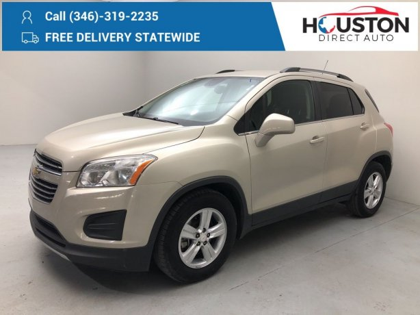 Used 2016 Chevrolet Trax for sale in Houston TX.  We Finance!