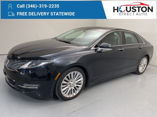 Used 2014 Lincoln MKZ for sale in Houston TX.  We Finance!
