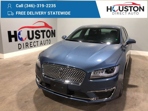 Used 2018 Lincoln MKZ for sale in Houston TX.  We Finance!