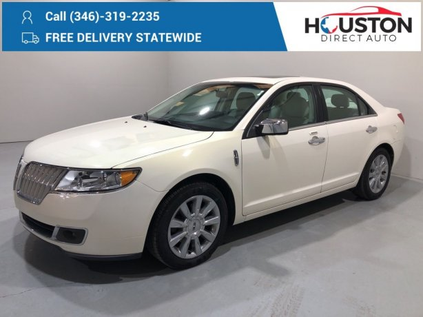 Used 2012 Lincoln MKZ for sale in Houston TX.  We Finance!
