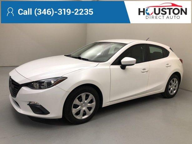 Used 2016 Mazda Mazda3 for sale in Houston TX.  We Finance!