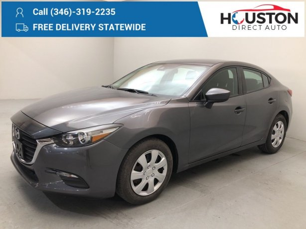 Used 2018 Mazda Mazda3 for sale in Houston TX.  We Finance!
