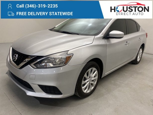 Used 2018 Nissan Sentra for sale in Houston TX.  We Finance!