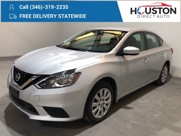 Used 2019 Nissan Sentra for sale in Houston TX.  We Finance!