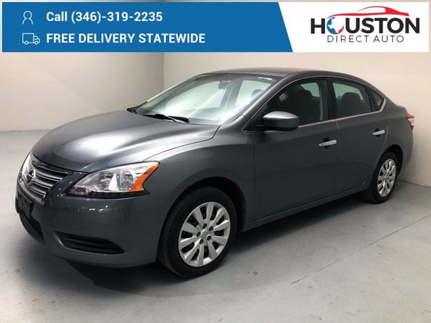 Used 2015 Nissan Sentra for sale in Houston TX.  We Finance!
