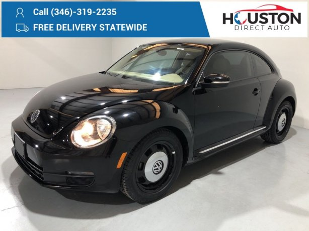 Used 2014 Volkswagen Beetle for sale in Houston TX.  We Finance!