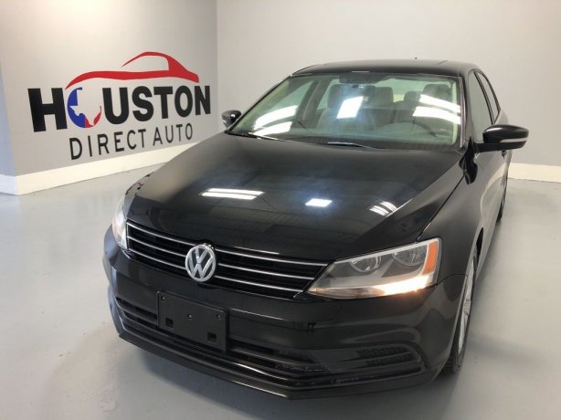 Used 2015 Volkswagen Jetta for sale in Houston TX.  We Finance!
