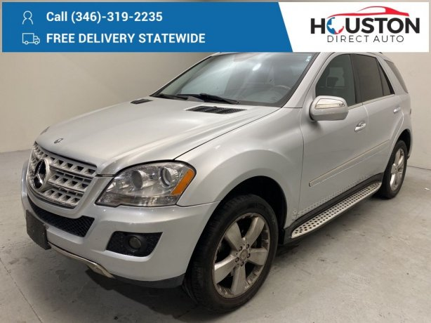 Used 2010 Mercedes-Benz M-Class for sale in Houston TX.  We Finance!