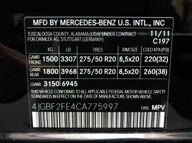 Mercedes-Benz 2012 for sale near me