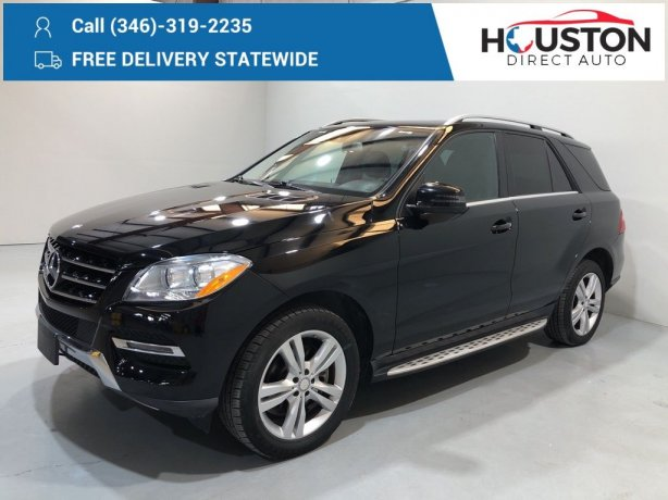 Used 2015 Mercedes-Benz M-Class for sale in Houston TX.  We Finance!
