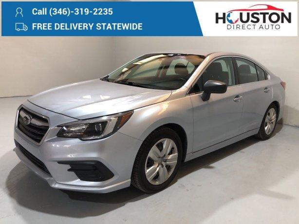 Used 2018 Subaru Legacy for sale in Houston TX.  We Finance!