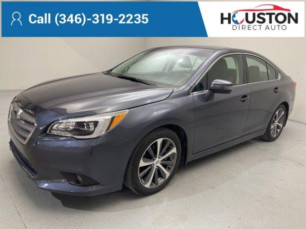 Used 2015 Subaru Legacy for sale in Houston TX.  We Finance!