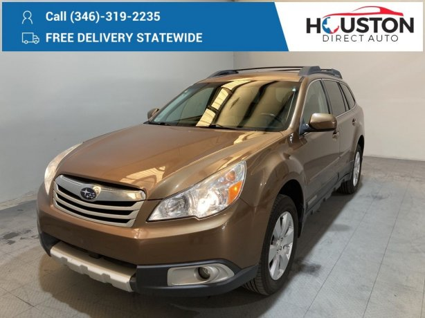 Used 2012 Subaru Outback for sale in Houston TX.  We Finance!