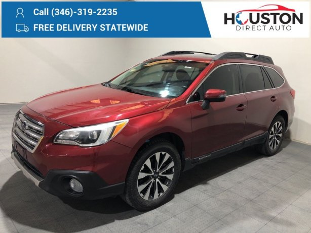 Used 2017 Subaru Outback for sale in Houston TX.  We Finance!