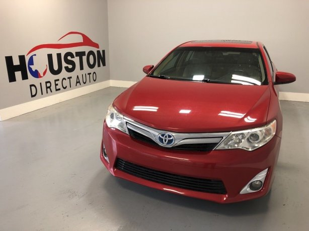 Used 2012 Toyota Camry Hybrid for sale in Houston TX.  We Finance!