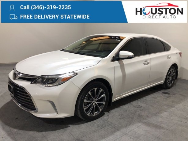 Used 2018 Toyota Avalon for sale in Houston TX.  We Finance!