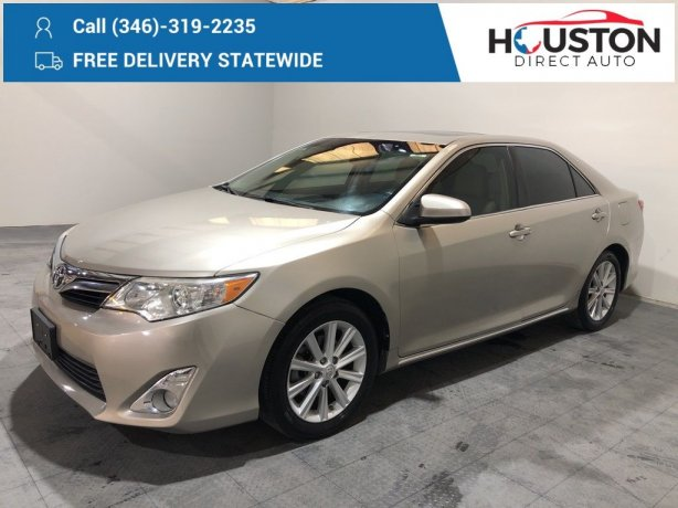 Used 2014 Toyota Camry for sale in Houston TX.  We Finance!