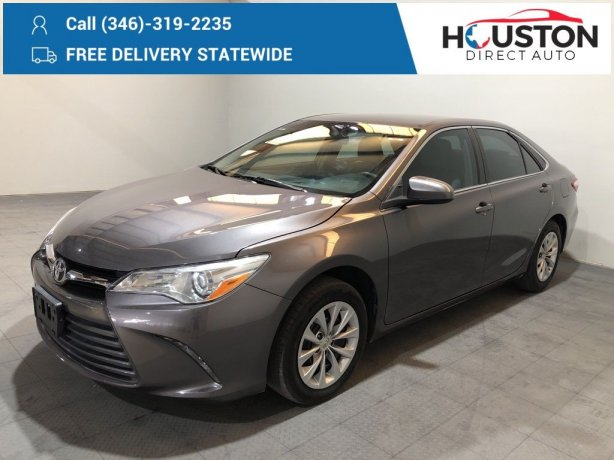 Used 2016 Toyota Camry for sale in Houston TX.  We Finance!