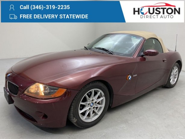 Used 2003 BMW Z4 for sale in Houston TX.  We Finance!