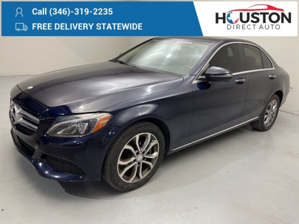 Used 2017 Mercedes-Benz C-Class for sale in Houston TX.  We Finance!