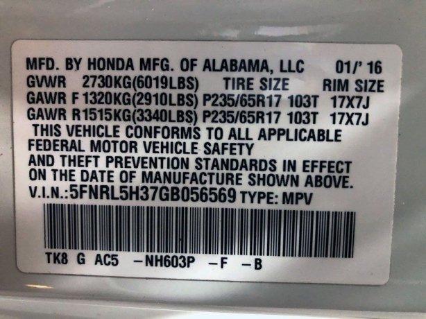 Honda 2016 for sale near me