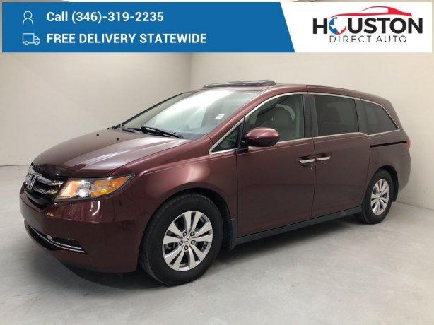 Used 2016 Honda Odyssey for sale in Houston TX.  We Finance!