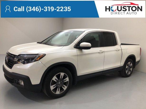 Used 2017 Honda Ridgeline for sale in Houston TX.  We Finance!