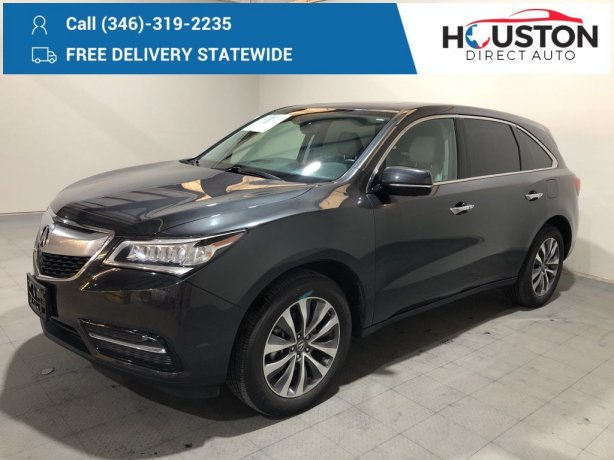 Used 2015 Acura MDX for sale in Houston TX.  We Finance!
