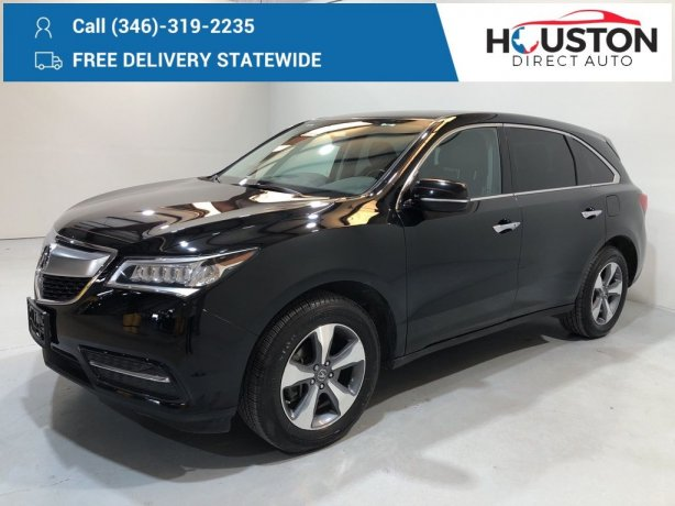 Used 2016 Acura MDX for sale in Houston TX.  We Finance!