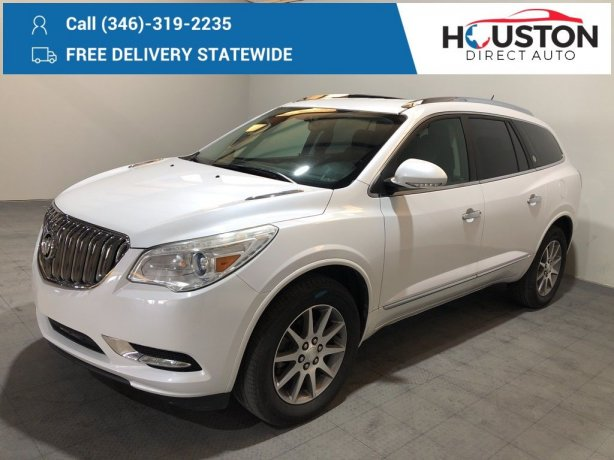 Used 2016 Buick Enclave for sale in Houston TX.  We Finance!