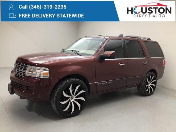 Used 2012 Lincoln Navigator for sale in Houston TX.  We Finance!