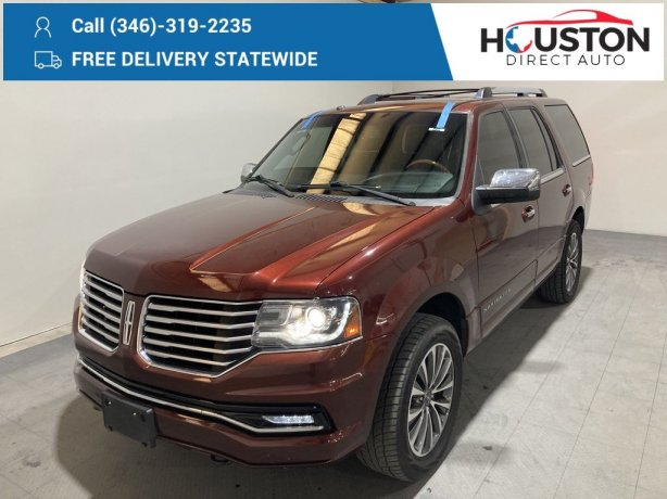 Used 2015 Lincoln Navigator for sale in Houston TX.  We Finance!