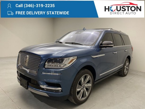 Used 2019 Lincoln Navigator for sale in Houston TX.  We Finance!