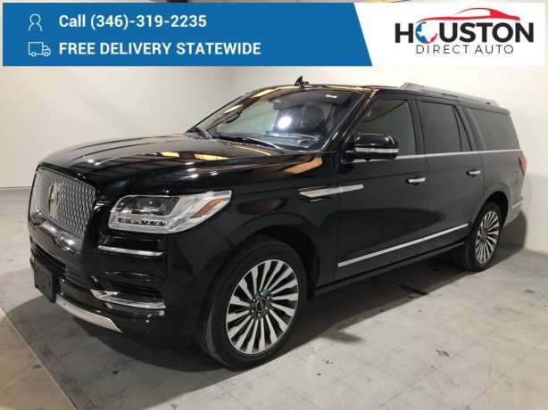 Used 2018 Lincoln Navigator for sale in Houston TX.  We Finance!