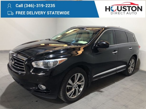 Used 2015 INFINITI QX60 for sale in Houston TX.  We Finance!