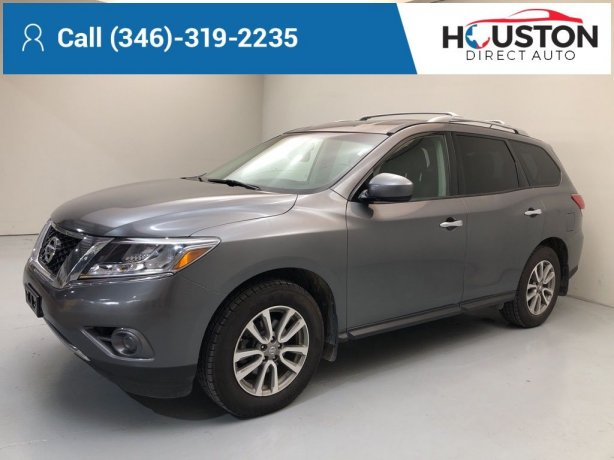 Used 2015 Nissan Pathfinder for sale in Houston TX.  We Finance!