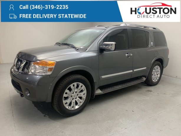 Used 2015 Nissan Armada for sale in Houston TX.  We Finance!