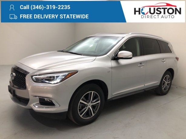 Used 2017 INFINITI QX60 for sale in Houston TX.  We Finance!