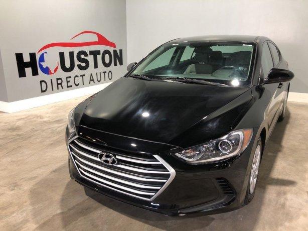 Used 2017 Hyundai Elantra for sale in Houston TX.  We Finance!
