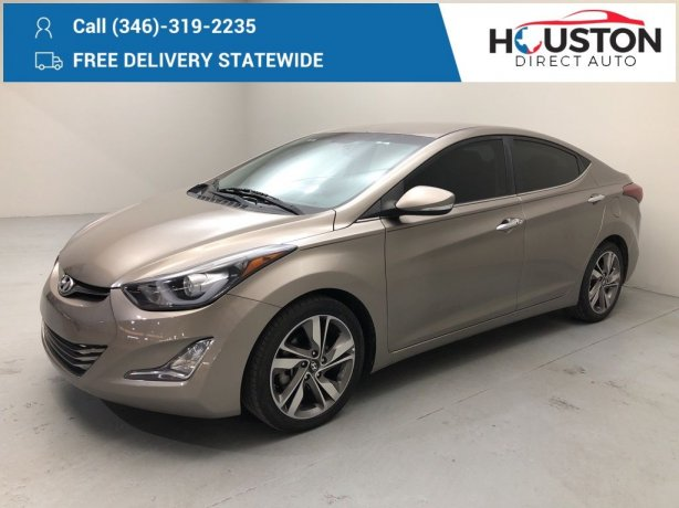 Used 2016 Hyundai Elantra for sale in Houston TX.  We Finance!