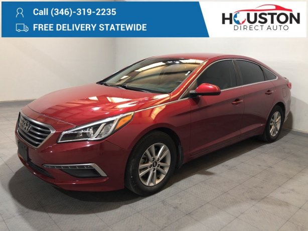 Used 2015 Hyundai Sonata for sale in Houston TX.  We Finance!