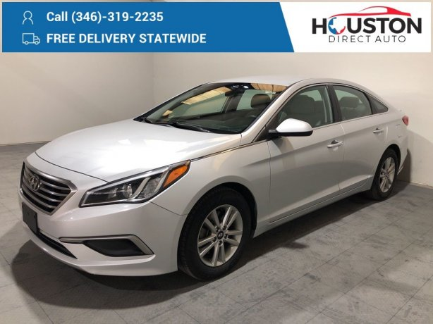 Used 2017 Hyundai Sonata for sale in Houston TX.  We Finance!