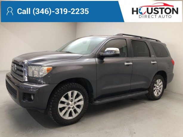 Used 2012 Toyota Sequoia for sale in Houston TX.  We Finance!