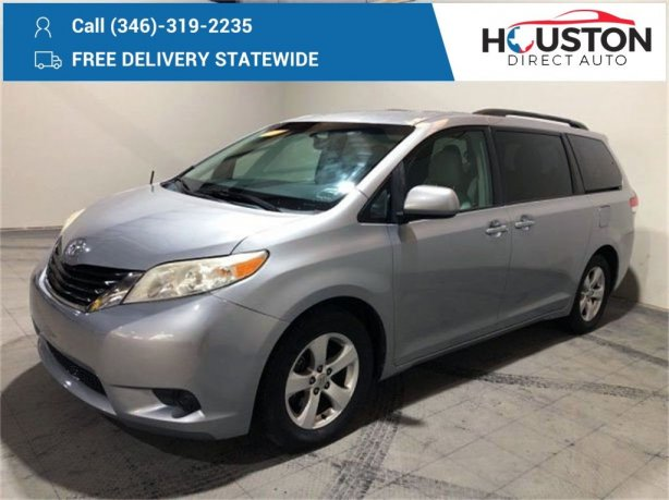 Used 2012 Toyota Sienna for sale in Houston TX.  We Finance!