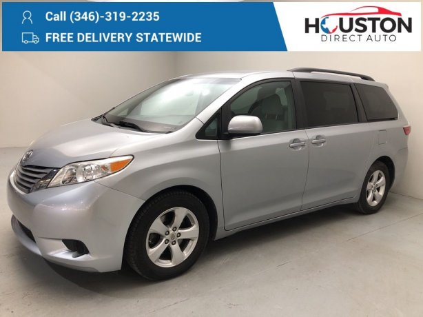 Used 2016 Toyota Sienna for sale in Houston TX.  We Finance!