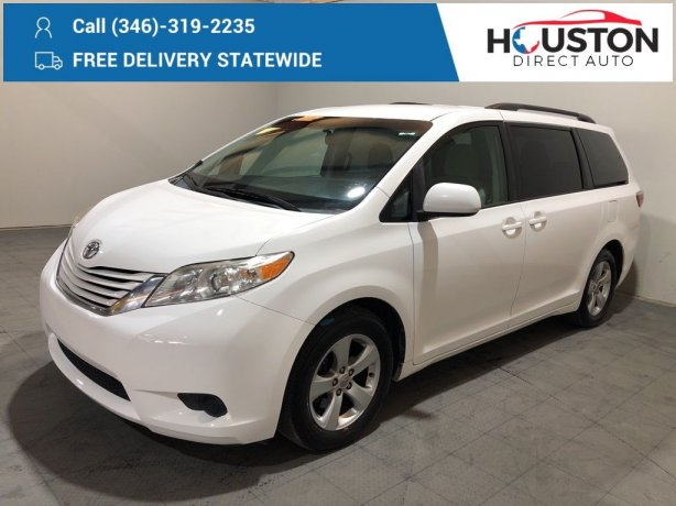 Used 2015 Toyota Sienna for sale in Houston TX.  We Finance!