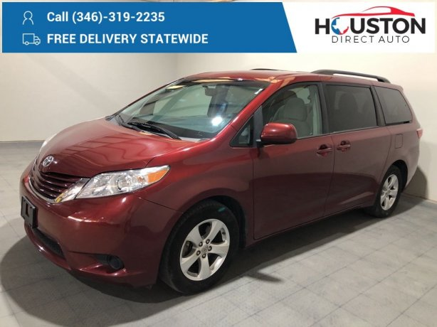 Used 2017 Toyota Sienna for sale in Houston TX.  We Finance!