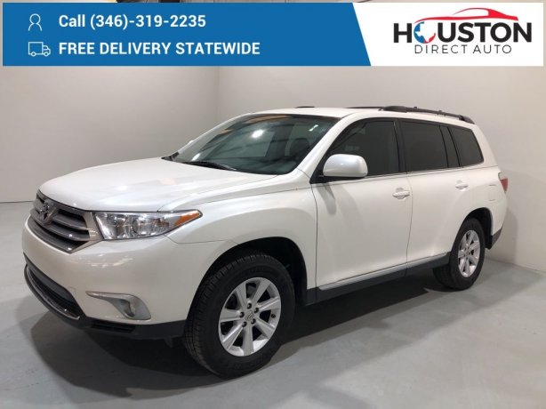 Used 2013 Toyota Highlander for sale in Houston TX.  We Finance!