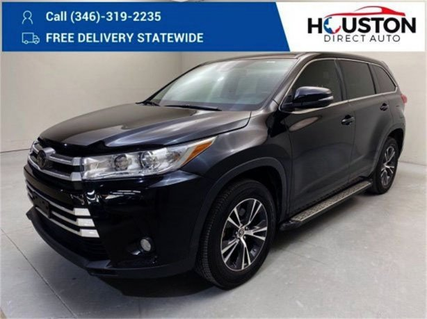 Used 2018 Toyota Highlander for sale in Houston TX.  We Finance!
