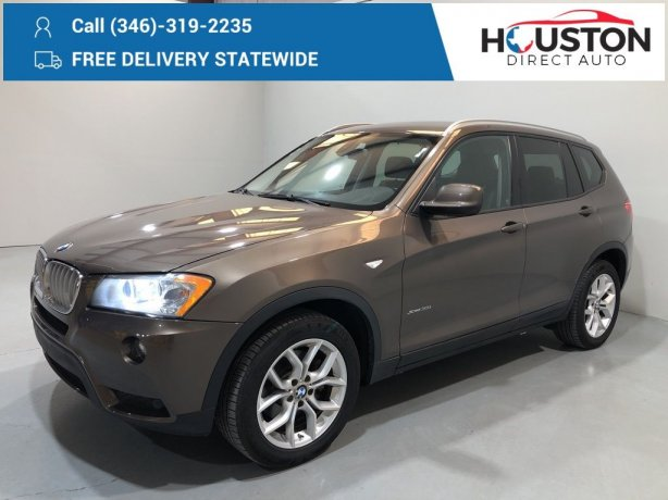 Used 2012 BMW X3 for sale in Houston TX.  We Finance!